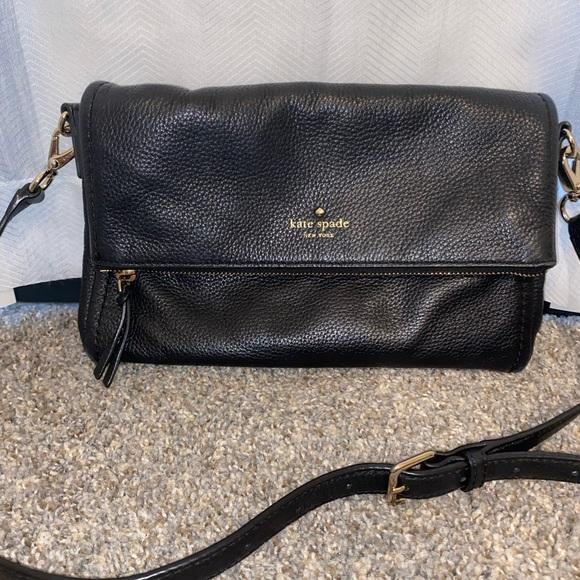 Kate Spade New York Black Flap Over Bag